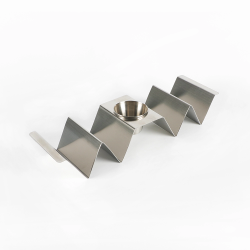 Stainless Steel Taco Holder With Cup
