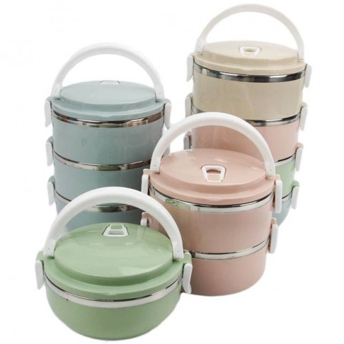 3 Layer Stackable Stainless Steel Lunch Box