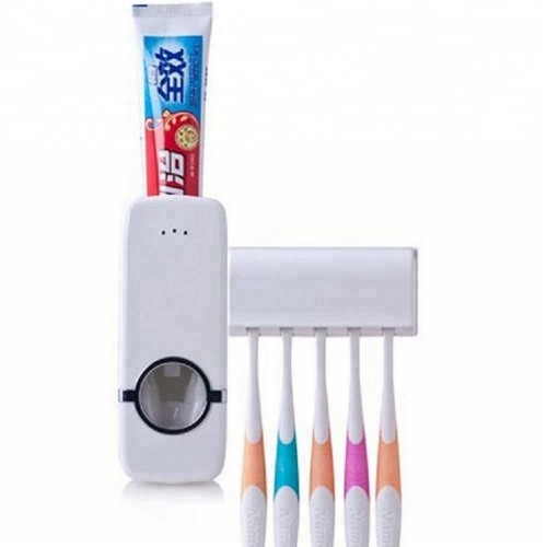 Automatic Toothpaste Dispenser plus 5 Toothbrush Holder