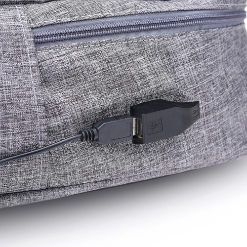 Backpack with USB cable and Power Bank or Battery for charging