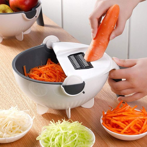 Multifunctional Vegetable Cutter With A Strainer