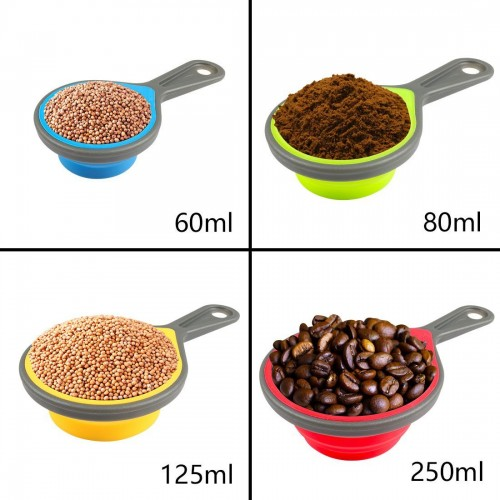 4-Set Silicone Collapsible Measuring Cups