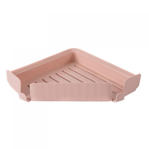 Self Adhesive Bathroom or Kitchen Corner Storage Shelf